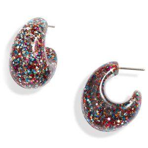 Kate Spade Brilliant Glitter Hoop Earrings